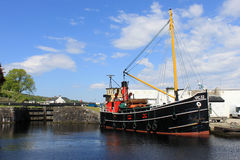 VIC 32 last seagoing Clyde Puffer at Ardrishaig Royalty Free Stock Images