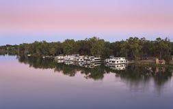 VIC Mildura Murray Pink sunrise Stock Image