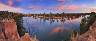 VIC Murray Red cliffs panorama Stock Photography