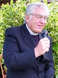 Vicar giving sermon Royalty Free Stock Photos