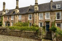 Vicars Close terrace view, Wells Royalty Free Stock Images