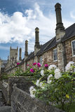Vicars Close and Wells cathedral Royalty Free Stock Photo