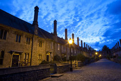 Vicars' Close in Wells. The historic Vicars' Close at dusk - in Wells, Somerset Royalty Free Stock Image