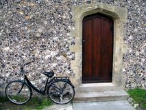 The vicars door. On a Gothic church Royalty Free Stock Image