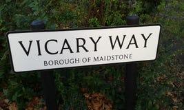 Vicary way. Street sign. Vicary way. Maidstone. Kent Royalty Free Stock Photo