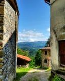 Vicchiogeval van landschapsmugello Florence Borgosanlorenzo Italy Toscanië Stock Foto