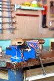 Vice che tiene un pezzo di legno Fotografia Stock