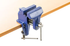 Vice clamp on bench Royalty Free Stock Images