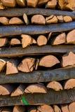 Vice-cut tree trunks Royalty Free Stock Photos