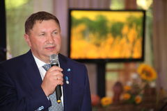 Vice-Governor of Leningrad region Sergey Yakhnyuk V. – Chairman of Committee on agroindustrial and fishery complex of Leningrad region administration.  a Royalty Free Stock Photography