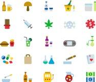 Vice icons Royalty Free Stock Photo