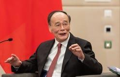 Vice-président de la République de Chine Wang Qishan images libres de droits