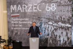 Vice-président du ` 68 de mars du Conseil des ministres, de ministre de la Science et d'enseignement supérieur - Jaroslaw Gowin Image stock