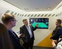 Vice-président Rolf Schumann de SAP parle comment les grandes données aident Photographie stock libre de droits