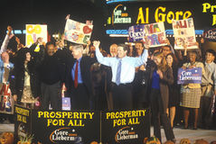Vice President Al Gore at a Presidential rally for Gore/Lieberman on October 31st of 2000 in Westwood Village, Los Angeles, Califo Stock Photo