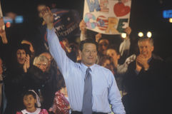 Vice President Al Gore at a Presidential rally for Gore/Lieberman on October 31st of 2000 in Westwood Village, Los Angeles, Califo Royalty Free Stock Images
