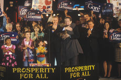 Vice President Al Gore at a Presidential rally for Gore/Lieberman on October 31st of 2000 in Westwood Village, Los Angeles, Califo Stock Photography