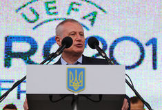 Vice-president of UEFA Hryhoriy Surkis Stock Photography