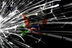 Vice-presidente da bandeira efervescente dos fogos de artifício do sumário do Estados Unidos Conceito do ano novo, do Natal e do  foto de stock