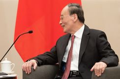 Vice-presidente da República da China Wang Qishan fotografia de stock royalty free