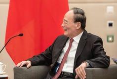 Vice-presidente da República da China Wang Qishan imagens de stock royalty free