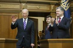 Vice-presidente Joseph Biden dos EUA em Verkhovna Rada de Ucrânia Imagem de Stock Royalty Free