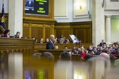 Vice-presidente Joseph Biden dos EUA em Verkhovna Rada de Ucrânia Fotos de Stock Royalty Free