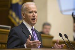 Vice-presidente Joseph Biden dos EUA em Verkhovna Rada de Ucrânia Fotografia de Stock Royalty Free