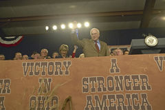 Vice Presidential candidate Dick Cheney. Campaign rally in Ohio attended by Vice Presidential candidate Dick Cheney, 2004 Stock Photos