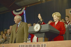 Vice Presidential candidate Dick Cheney. Campaign rally in Ohio attended by Vice Presidential candidate Dick Cheney, 2004 Royalty Free Stock Photo