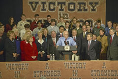 Vice Presidential candidate Dick Cheney. Campaign rally in Ohio attended by Vice Presidential candidate Dick Cheney, 2004 Royalty Free Stock Image