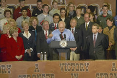 Vice Presidential candidate Dick Cheney. Campaign rally in Ohio attended by Vice Presidential candidate Dick Cheney, 2004 Royalty Free Stock Photography