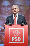 Vice prime minister of Romania Liviu Dragnea body language during speech Stock Images