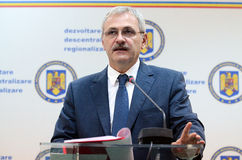 Vice Prime Minister of Romania, Liviu Dragnea Royalty Free Stock Images