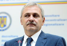 Vice Prime Minister of Romania, Liviu Dragnea Stock Photos
