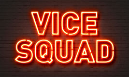 Vice squad neon sign Royalty Free Stock Photography