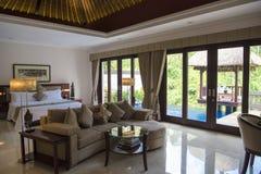 Vicekonung för lyxigt hotell för Balinese, Ubud fotografering för bildbyråer