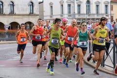 Vicence, Italie, le 20 septembre 2015 Turbines de marathon Images libres de droits