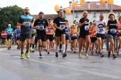 Vicence, Italie, le 20 septembre 2015 Turbines de marathon Image stock