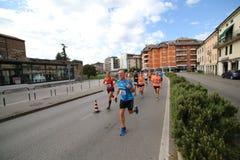 Vicence, Italie, le 20 septembre 2015 Turbines de marathon Photos libres de droits