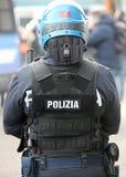 Vicence, VI, Italie - 28 janvier 2017 : La police italienne s'ameute le peloton Photographie stock libre de droits