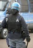 Vicence, VI, Italie - 28 janvier 2017 : La police italienne s'ameute le peloton Photos libres de droits