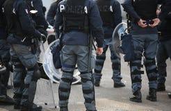 Vicence, VI, Italie - 28 janvier 2017 : La police italienne s'ameute le peloton avec l'armure dans la ville Photo libre de droits
