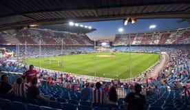 Vicente Calderon fotbollstadion Arkivfoton