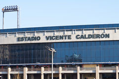 Vicente Calderon soccer stadium, Madrid Royalty Free Stock Image