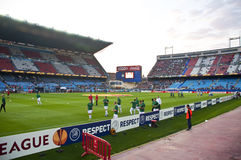 Vicente Calderon soccer stadium, Madrid Stock Photos
