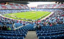 Vicente Calderon soccer stadium, Madrid Royalty Free Stock Images
