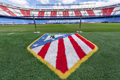 In Vicente Calderon Stadium Stock Foto's