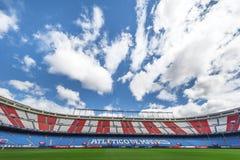 In Vicente Calderon Stadium Royalty-vrije Stock Afbeeldingen