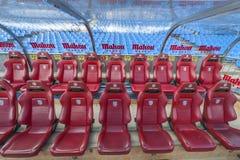 At Vicente Calderon Stadium Royalty Free Stock Photos